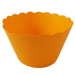 Orange Cupcake Wrappers x 50 Per Pack